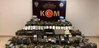 Konya: Konya'da kripto para operasyonu: 103 kripto para üretim makinesi ele geçirildi