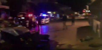 Antalya: Park halindeki halk otobüsüne çarpan aracın sürücüsü yaralandı