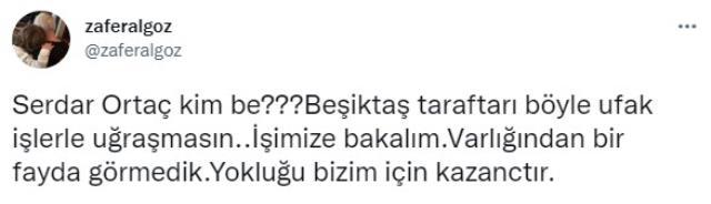 Serdar Ortaç'a ünlü oyuncu Zafer Algöz'den sert tepki! Beşiktaş taraftarından beğeni yağdı