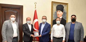 Kilis: Vali Soytürk,15 Temmuz Derneği Başkanı Şebik ile bir araya geldi