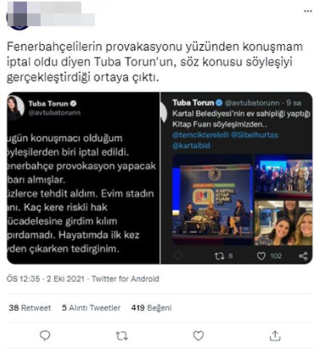 Fenerbahçe Stadı'ndan rahatsız olan CHP'li Tuba Torun'a tepki yağıyor! Ortalık karıştı