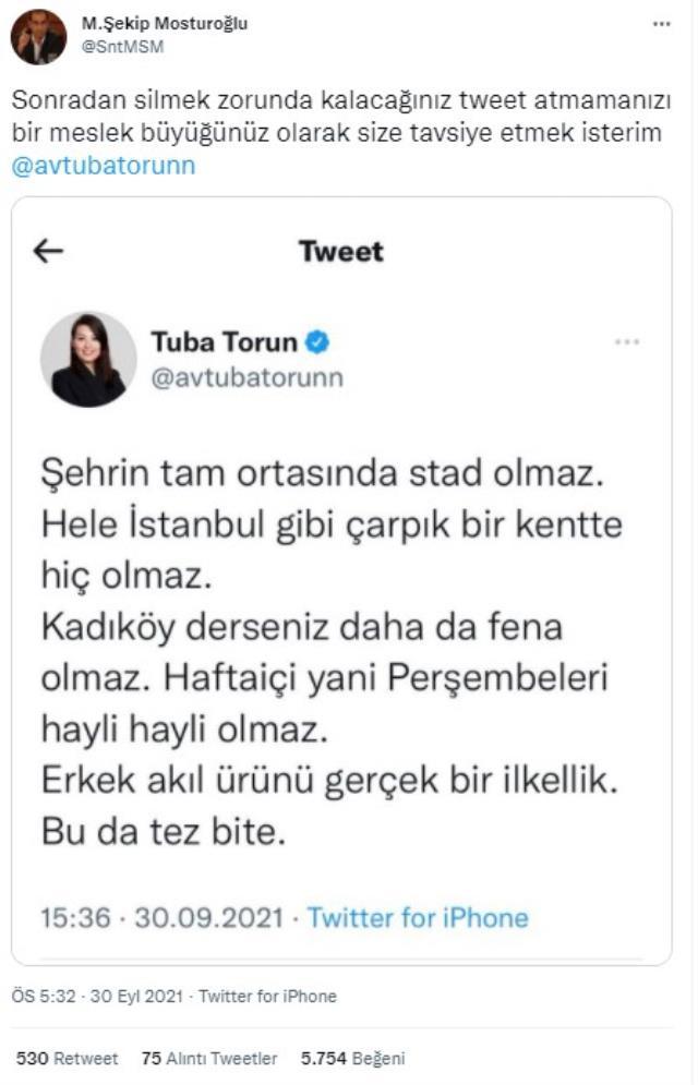 Fenerbahçe Stadyumu'ndan rahatsız olan CHP'li Tuba Torun'a tepki yağıyor! Ortalık karıştı
