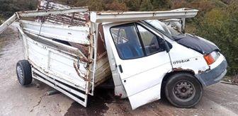 Daday: Kamyon ile kamyonet çarpıştı: 1 Yaralı