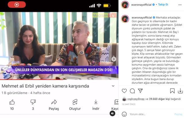 Ece Ronay'a attığı mesajlar ifşa olan Mehmet Ali Erbil, özür diledi