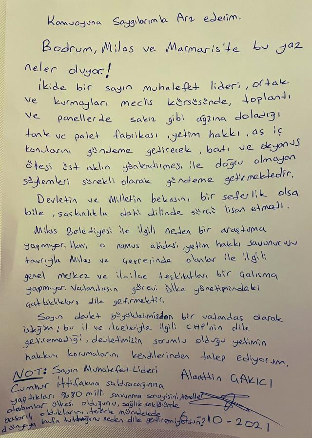 Alaattin Çakıcı yeni mektup paylaştı, Kılıçdaroğlu'na seslendi: Neden dile getiremiyorsun?