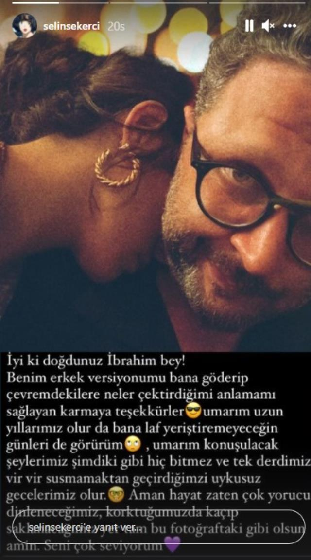 İbrahim Selim'in doğum gününde aşka gelen Selin Şekerci'den romantik paylaşım