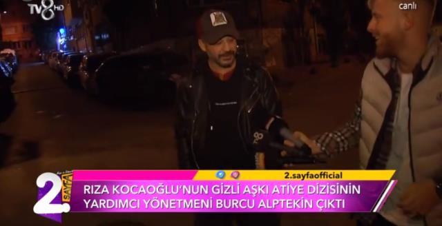 Oyuncu Rıza Kocaoğlu, yönetmen Burcu Alptekin ile sarmaş dolaş görüntülendi