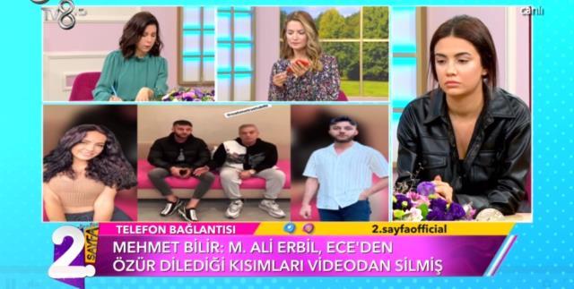 Ece Ronay'a taciz mesajları atan Mehmet Ali Erbil'le buluşan nişanlı, kendini böyle savundu
