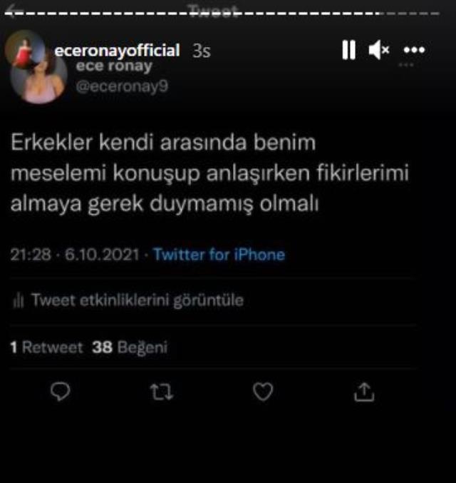 Mesajları ifşa olan Mehmet Ali Erbil, Ece Ronay'ın nişanlısıyla video paylaştı
