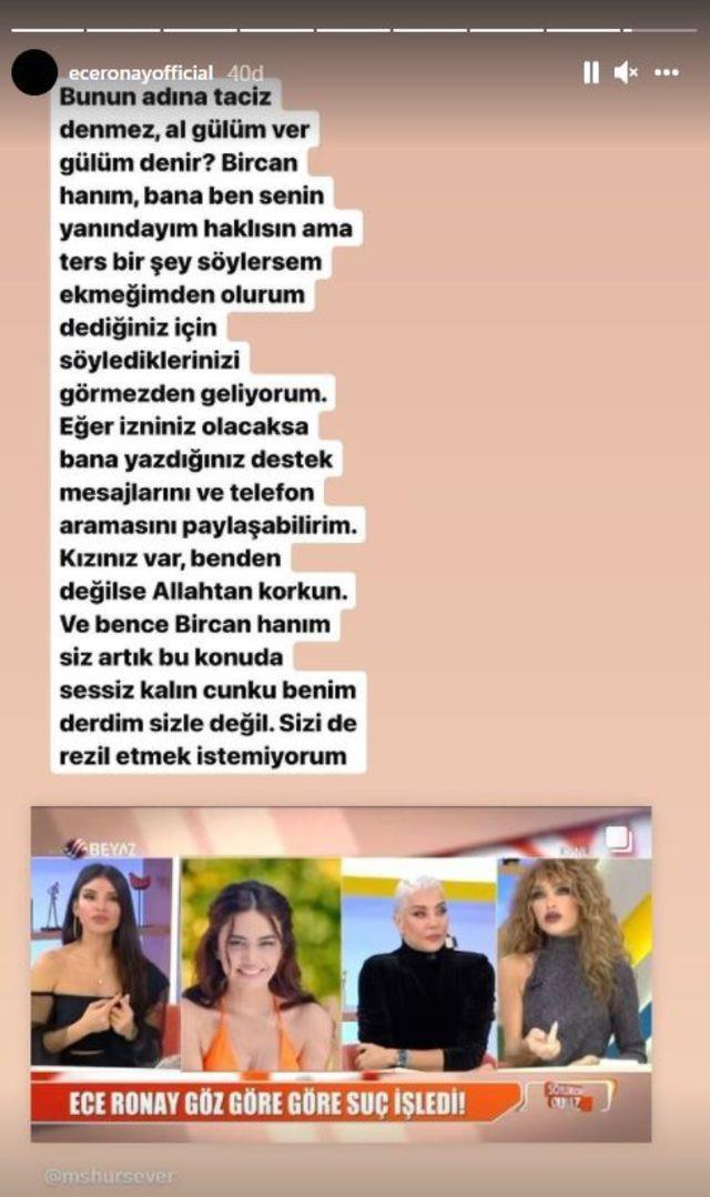 Erbil'in mesajlarını ifşa eden Ece Ronay, Deniz Akkaya'nın cinsel içerikli video imasına adeta ateş püskürdü