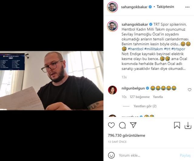 Şahan Gökbakar, Sevilay İmamoğlu Öcal'ın soyadını okumayan spor spikerini tiye aldı