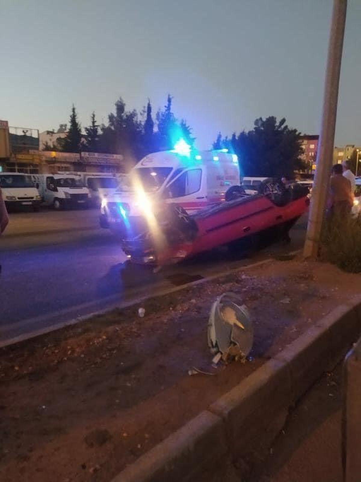 Nurdağı'nda tırın çarptığı otomobilin sürücüsü yaralandı
