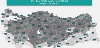 Kocaeli: İl il koronavirüs vaka sayıları kaçtır? 25 Eylül-1 Ekim İl il güncel koronavirüs risk haritası ve haftalık vaka sayıları açıklandı mı?