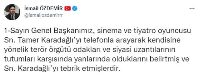 Nihal Yalçın'ın konuşması sırasında yaptığı mimiklerle tepki çeken Tamer Karadağlı'ya Bahçeli'den destek