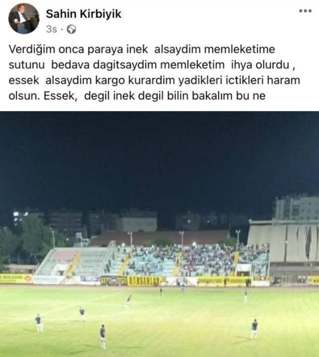 Kulüp başkanından futbolculara ağza alınmayacak sözler: Eşek alsaydım kargo kurardım