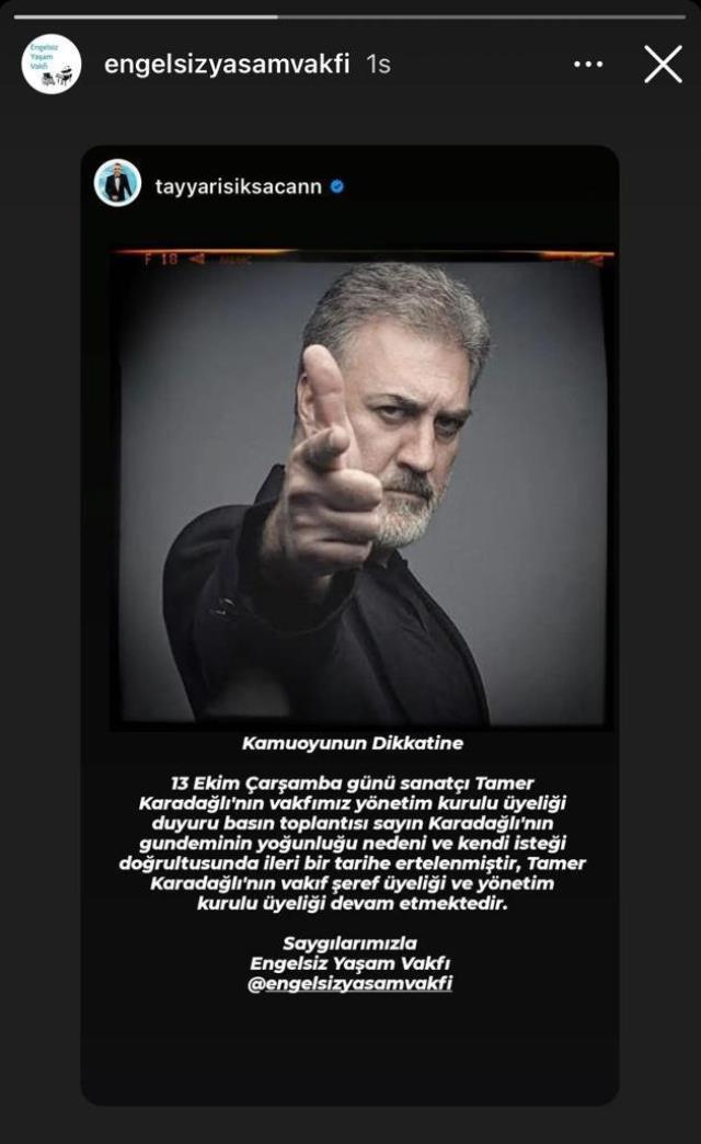 Tamer Karadağlı'nın katılacağı organizasyon ertelendi