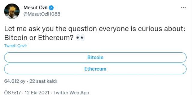Mesut Özil herkesin merak ettiği soruyu sordu! Paylaştığı oylamaya katılım çığ gibi