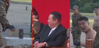 Kuzey Kore: Kuzey Kore askerlerinden gövde gösterisi! Betonu yumruklarıyla parçalayıp, cam ve bıçakların üstüne yattılar