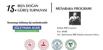 Süleyman Acar: Kızılcahamam'da Rıza Doğan Güreş Turnuvası Başlıyor
