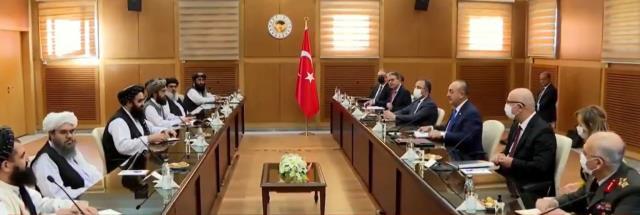 Taliban'dan Türkiye'ye üst düzey ziyaret! İşte görüşmeden ilk kare