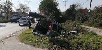 Devlet Hastanesi: Hafif ticari araç sulama kanalına girdi 3 kişi yaralandı