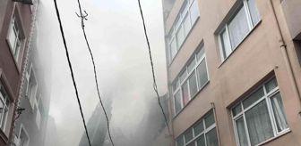 Fırat: Gaziosmapaşa'da yangın paniği: Dumandan göz gözü görmedi
