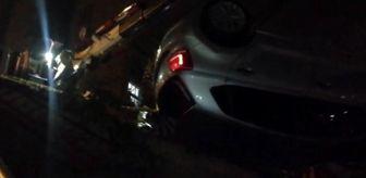 Hamidiye: İstanbul'da otomobil 25 metreden uçtu, şoför son anda kurtuldu