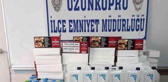 Uzunköprü: Edirne'de sahte içki operasyonu