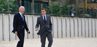 Emmanuel Macron: ABD Başkanı Biden, Fransa Cumhurbaşkanı Macron ile görüştü