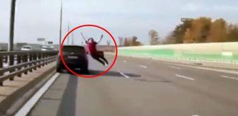 Uyuşturucu: Otoyolda akılalmaz intihar girişimi! Sürücülerin dikkati sayesinde kurtuldu