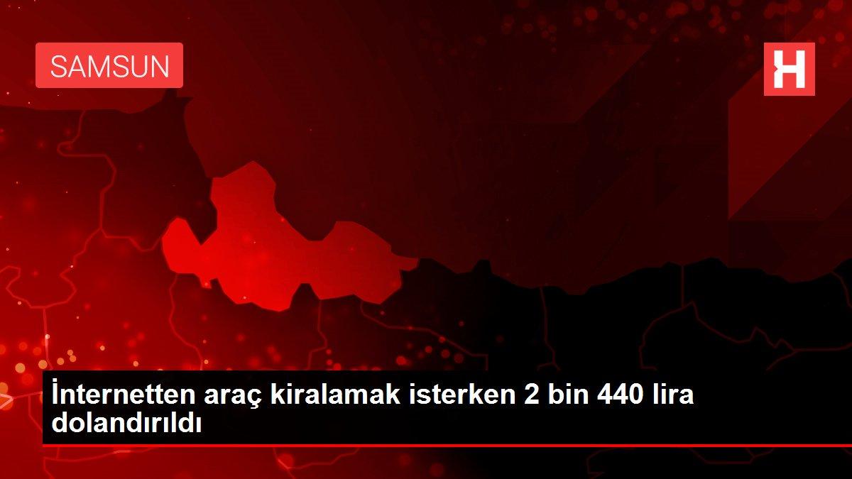 İnternetten araç kiralamak isterken 2 bin 440 lira dolandırıldı