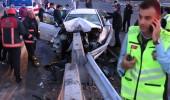 Kadıköy'de feci kaza! Ok gibi saplanan bariyer sonu oldu