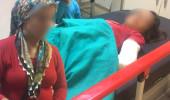 Annesini korumaya çalışan 8 yaşındaki kızını hastanelik etti