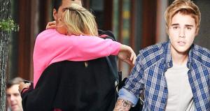 Justin'i kıskandıracak görüntü: Öpüşürken yakalandılar