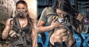 Kadın asker silahlı fotoğraflarıyla akılları başından aldı!