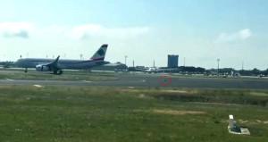 Havalimanını birbirine katıp, 4 uçağın inmesine engel oldu