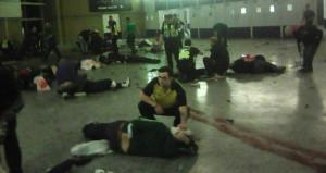 Katliamın fotoğrafı! Salondan ilk kare dehşeti gözler önüne serdi