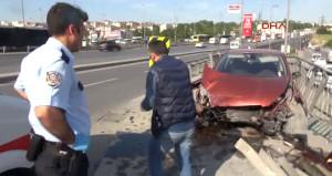 Bu kazada bir genç kız yaralandı, bir insanlık öldü!