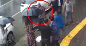 Erkekten dayak yiyen çakma kabadayı, kadına saldırdı