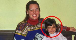 Fotoğraftaki ufaklık şimdi büyüdü, evlendi, anne bile oldu