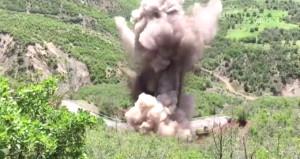 Hainler yola 500 kilo patlayıcı döşemiş