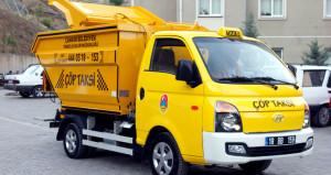 Bu da 'Çöp Taksi'! Vatandaş 7/24 çöp atabiliyor
