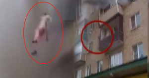11 aylık bebeğiyle 5'inci kattan atlayıp kurtuldu