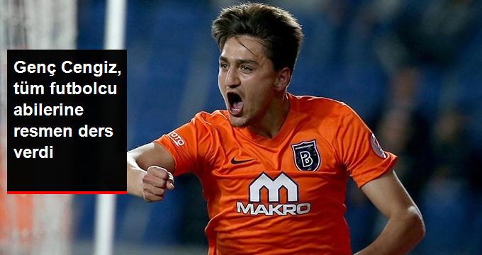 Genç Cengiz, tüm futbolcu abilerine resmen ders verdi