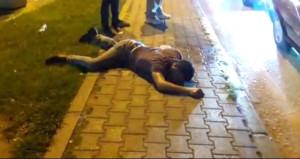 Ayakta duramadı, cadde ortasında yığılıp kaldı