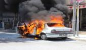 LPG'li araç cadde ortasında alev topuna döndü, kimse yaklaşamadı