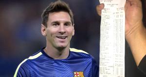 Bir gecede 146 bin TL harcayan Messi ateş püskürdü