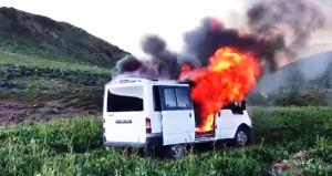 Jandarma, hain planı bozdu! Katliam minibüsü havaya uçuruldu