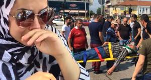 Kadın sürücü 60 yaşındaki adama çarpınca gözyaşlarını tutamadı