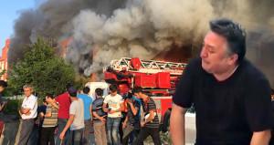 Mobilya fabrikası cayır cayır yandı, vatandaşlar film gibi izledi